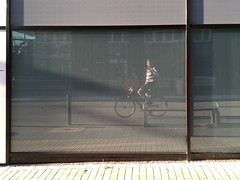 Ready for a bike tour (Mado46) Tags: bxl06 mado46 dortmund nrw germany deutschland window fenster fahrrad bicycle bike biciclette biketour radtour rad fiets fietstocht changeyourliferideabike reflection