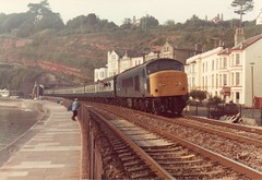 46044 Dawlish September 1982 (clivepsmithmarch1960) Tags: 46044 dawlish seawall