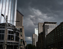 Thunderstorm about to hit the Pru (iMatthew) Tags: boston ma clouds thunderstorm severeweather rain storm thunder stormclouds prudentialbuilding prudentialcenter pru prudential urban architecture urbanandstreet