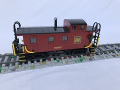 Conway Scenic Railroad Caboose 75955 (Dawson Santoro) Tags: hampshire new stock rolling train black red dark caboose model lego railroad scenic conway