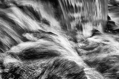 28:52 Order in Chaos (Woodlands Photog) Tags: waterfall water rushing bw monochrome