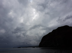 Ominous sky! (Shandchem) Tags: latheronwheel sea kayak