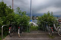 Nauerna (Julysha) Tags: bikes nauerna rainy 2019 thenetherlands noordholland harbour evening summer june acr d7200 yacht nikkor1680284