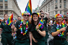 Pride in London 2019 (Mikepaws) Tags: lgbt gay procession pride prideinlondon love equality humanrights celebration centrallondon parade 2019 summer rainbowflag ambulance paramedics nhs