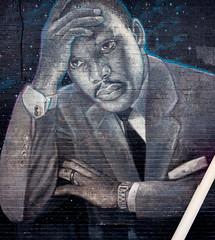 Pensive MLK, Jr. (Dennis Valente) Tags: streetarteverywhere usa muralist washington art contemporaryurbanart pnw seattle painting isobracketing spraypaint urbanart mlk 5dsr artist streetart 32bit martinlutherkingjr aerosol muralart hdr 2019 streetartistry mural