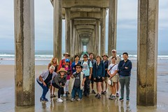 Pacific Photography Society Scripps Meander (GoodLifeErik) Tags: pacificphotographicsociety scrippscoastalmeander lajolla lajollashores pacificocean beach waves surf pilings scrippspier groupshot smiles photographers