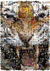 Ferocious tiger mosaic (cornejo-sanchez) Tags: tiger ferocious mosaic cats endangered species jungle stripe camouflage wild nocturnal solitary strength courage carnivore jaws art digital illustration