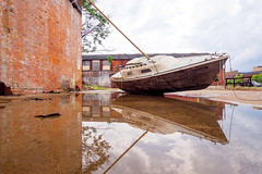 P7060007 (elsuperbob) Tags: detroit michigan art foundobjects scotthocking boneblack abandoned boats emptyspaces installationart