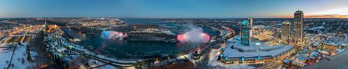Large Panorama of the Niagara Falls