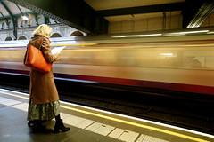 Waiting at Notting Hill Gate (Luke Agbaimoni (last rounds)) Tags: london londonunderground londontube waiting tube transportforlondon train