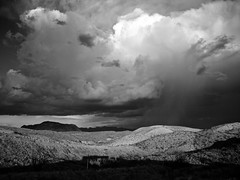 Cloudburst near Sawmill Mountain, Brewster County, TX
