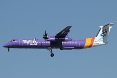 G-PRPN (LIAM J McMANUS - Manchester Airport Photostream) Tags: gprpn flybe be bee jersey fasterthanroadorrail bombardier dh4 dhc8 dhc8400 dash8400 dh8d q400 manchester man egcc