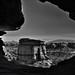 A Provincial Outline as a Portal (Black & White, Canyonlands National Park)