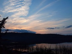 Red Sky at Night..... (PhantomMirage) Tags: canisbay algonquin park 2018 ontario canada lake sunset sky clouds nature