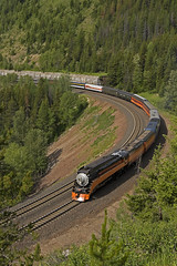 Plan B (Trevor Sokolan) Tags: sp bn bnsf 4449 steam lima 484 passenger special marias mariaspass highline varnish curve locomotive history trees mountains mt montana us usa america trains train trainspotting tracks railway railroad railfan rail railfanning
