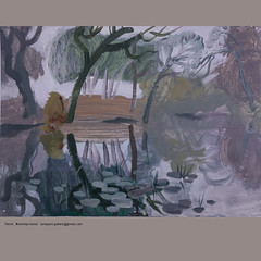 River at January. (S e r s h) Tags: acrylic winter river art serhpictures painting