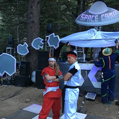 Chris and Daniel knife dick fighters (RobotSkirts) Tags: spacecamp camp space spacecamp2019 spacecampiv sciv dj ufo flyingsaucer sign asteroid chris daniel quinoa creeko chriskasych knifedickfighters streetfighter ken ryu gi dancefloor
