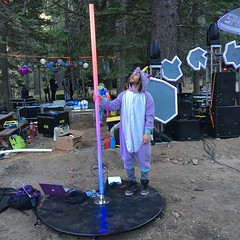 Spencer and the pole (RobotSkirts) Tags: spacecamp camp space spacecamp2019 spacecampiv sciv asteroid spencer led pole dancepole polefx spencerhochberg unicorn