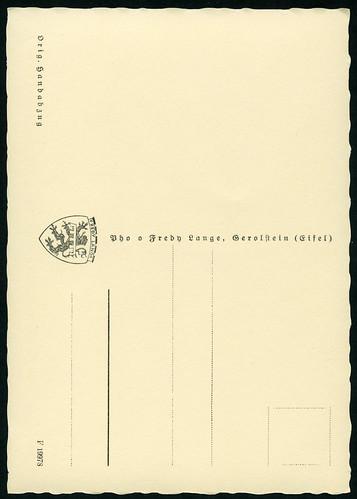 Archiv T445 Vergissmeinnicht oder Gedenkemein (back), Fredy Lange, Gerolstein 1950er
