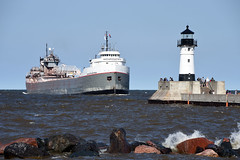 Evening arrival at Duluth (CN Southwell) Tags: lake superior boat ship freighter duluth mn minnesota