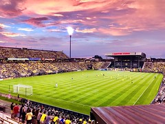 saturday evening in crew stadium (brown_theo) Tags: inexplore explore crew match stadium sounders seattle saturated saturday sunset crowd game mapfre soccer columbus crewsc