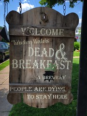 Dead and Breakfast (Explore) (rabidscottsman) Tags: scotthendersonphotography travelphotography bedandbreakfast sign brewery funeralhome mn minnesota wabashaminnesota woodensign saturday weekend iphone appleiphone iphone8 flickr socialmedia usa unitedstatesofamerica explore exploreminnesota