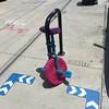 Knit unicycle (RobotSkirts) Tags: knit unicycle twobit twobitcircus yarnbomb