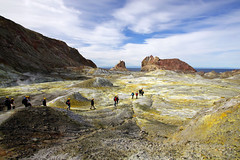 Moon walk (Magryciak) Tags: 2019 volcano volcanic newzealand canon eos northisland island whiteisland crater walk yellow tour tourist person people landscape sky sulphur rock whakatane geothermal explored
