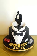 James Bond 50th Birthday Cake (Leanne's Cake Creations (Irchester)) Tags: leannes cake creations irchester leanne maskell james bond 007 0050 secret agent danie craig bowtie rolls royce 50th birthday