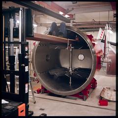 Mounting fans in Mars windtunnel (Jens Jacob - Hej!) Tags: tessar75mmf35 esa mars 120 mediumformat 6x6 mellemformat zeiss awts2 astia rolleiflexk4b film fujirap100f aarhus centraldenmarkregion denmark aarhsuniversity