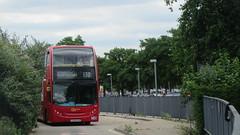 London Bus Route 132   LX56 EUB, E54   Alexander Dennis Trident 2 Enviro400 (Euro 4) @North Greenwich Station (DaniThePancake) Tags: lx56eub londoncentral goaheadlondone54 londonbusroute132 alexanderdennisenviro400
