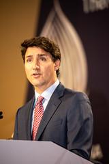 Trudeau (michael_swan) Tags: justintrudeauprimeministercanadaspeechmississauga mississauga ontario canada