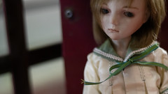 She gave me a sidelong glance. And she began to be silent. (Khronos-dolls) Tags: add tag doll bisquedoll seisen seisendolls poupeeenbiscuit coinbox publicphone