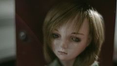 She speculates in silence. (Khronos-dolls) Tags: add tag doll bisquedoll seisen seisendolls poupeeenbiscuit coinbox publicphone