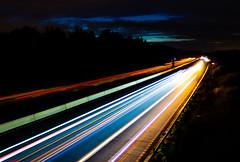 Nightime on the M6 (The Crewe Chronicler) Tags: night nighttime dark longexposure m6 motorway highway lighttrail light lighttrails canon canon7dmarkii