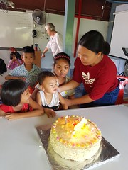Cake for July birthdays 2 (SierraSunrise) Tags: thailand phonphisai nongkhai isaan esarn church christian celebrations birthdays cake dessert