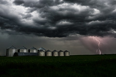 Lightning storm July 7, 2019 (Christy Turner Photography) Tags: storm stormchaser stormy clouds lightning thunder farm prairie silo canada alberta