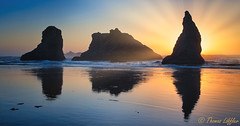 Face Rock Beach (funtor) Tags: bandon oregon coast usa beach sunset colors sun rock