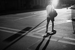 evening skater (gato-gato-gato) Tags: apsc fuji fujifilmx100f x100f autofocus evening flickr gatogatogato heat lowlight pocketcam pointandshoot summer wwwgatogatogatoch black white schwarz weiss bw monochrom monochrome blanc noir streetphotography street strasse strase onthestreets streettogs streetpic streetphotographer mensch person human pedestrian fussgänger fusgänger passant schweiz switzerland suisse svizzera sviss zwitserland isviçre zuerich zurich zurigo zueri fujifilm fujix x100 x100p digital