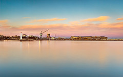 The calm at Station Pier (Peter ZZZ) Tags: cokin dusk filters melbourne nd outdoors portmelbourne portphilipbay princespier sigma1020mmf456exdchsm sky sunset water