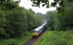 50015 -Brooksbottom tunnel (Andrew Edkins) Tags: 50015 valiant class50 hoover type4 england brooksbottomtunnel englishelectric canon eastlancsrailway preservedrailway travel trip diesel light summerseat july 2019 summer