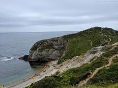 Almost there at Man O'War bay (dksesha) Tags: dorset atlantic water surf jurassic coastline coast pine sesh seshadri seshfamily dhanakoti haritasya harita vikaari samvatsara vikaarisamvatsara googlepixel3xl google googlepixel pixel pixel3 tilottama pixel3xl