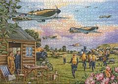 Scramble (touring_fishman) Tags: july 2019 1000 pieces thehouseofpuzzles jig saw jigsaw puzzle spitfires aeroplanes ww2 british warplanes kevinstapletonartist hop titlescramble