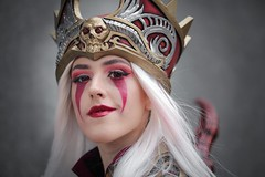 Sally Whitemane cosplayer at ExCeL London's MCM Comic Con, May 2019 (Gordon.A) Tags: london comic may convention docklands con excel mcm 2019 excellondonexhibitioncentre moviecomicmedia mcm2019 portrait people woman color colour colors face festival wall lady digital canon pose outside outdoors photography eos design costume model pretty colours cosplay outdoor character creative culture posed posing lifestyle sigma style naturallight sally warcraft event portraiture cosplayer amateur subculture whitemane 750d sigma50100mmf18dc