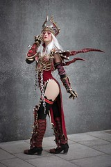 Sally Whitemane cosplayer at ExCeL London's MCM Comic Con, May 2019 (Gordon.A) Tags: london docklands excel excellondonexhibitioncentre mcm moviecomicmedia comic con convention mcm2019 may 2019 festival event creative costume design style lifestyle culture subculture sally whitemane warcraft character cosplay cosplayer pretty lady woman people face model pose posed posing outdoor outdoors outside wall naturallight colour colours color colors amateur portrait portraiture photography digital canon eos 750d sigma sigma50100mmf18dc