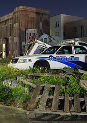 OPP (Industrial Relics Photography) Tags: nikon f100 nikkor 50mm 18 g kodak kodacolor colorplus 200 police cop orleans parish sheriff new louisiana opp nopd ford crown victoria interceptor
