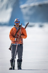Pond Inlet Driver and Guide (Paul B Jones) Tags: floeedge guide inuit inuk bylotisland pondinlet nunavut arctic canada harpoon indigenous traditionalknowledge ice canoneos1dxmarkii ef600mmf4liii ef14xiii