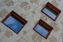 Trio (jefvandenhoute) Tags: belgium belgië brussels brussel light shapes geometric wall windows
