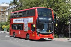 YY66 OYJ (EH80) Go-Ahead London General (hotspur_star) Tags: londontransport londonbuses londonbus londonbuses2019 alexanderdennisltd enviro400hmmc tfl transportforlondon hybridbus hybridtechnology busscene2019 doubledeck goaheadlondongeneral yy66oyj eh80 88