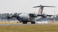 A400M touchdown (Cranswick852) Tags: riat riat2018 airshow fairford canon canon5d canon5dmk3 canon5dmkiii ef100400mmf4556lisiiusm ef14xiii aircraft military a400m airbus